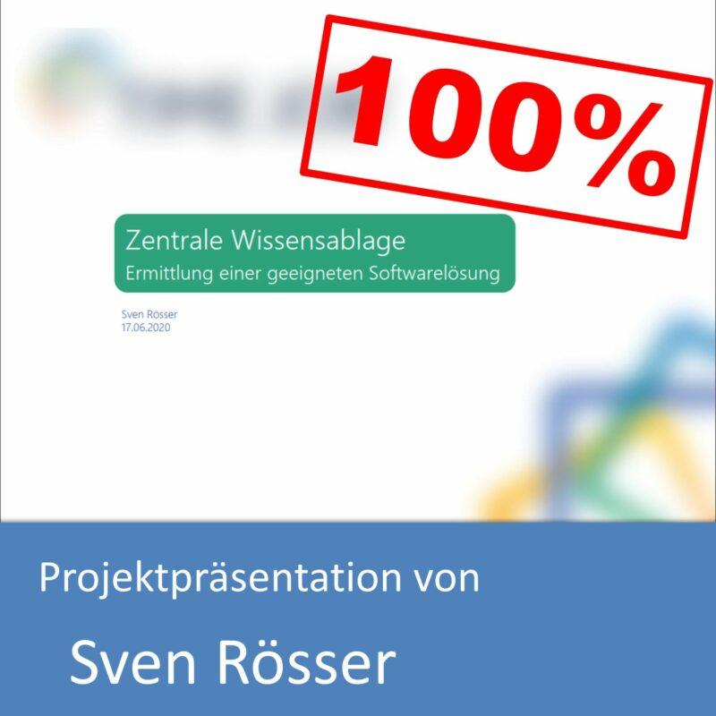 Projektpräsentation zum Informatikkaufmann von Sven Rösser (mit 100% bewertet)