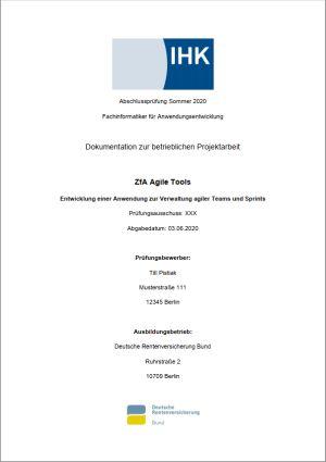 Deckblatt der Projektdokumentation von Till Pistiak