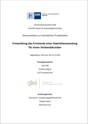 Deckblatt der Projektdokumentation von Laura Höll