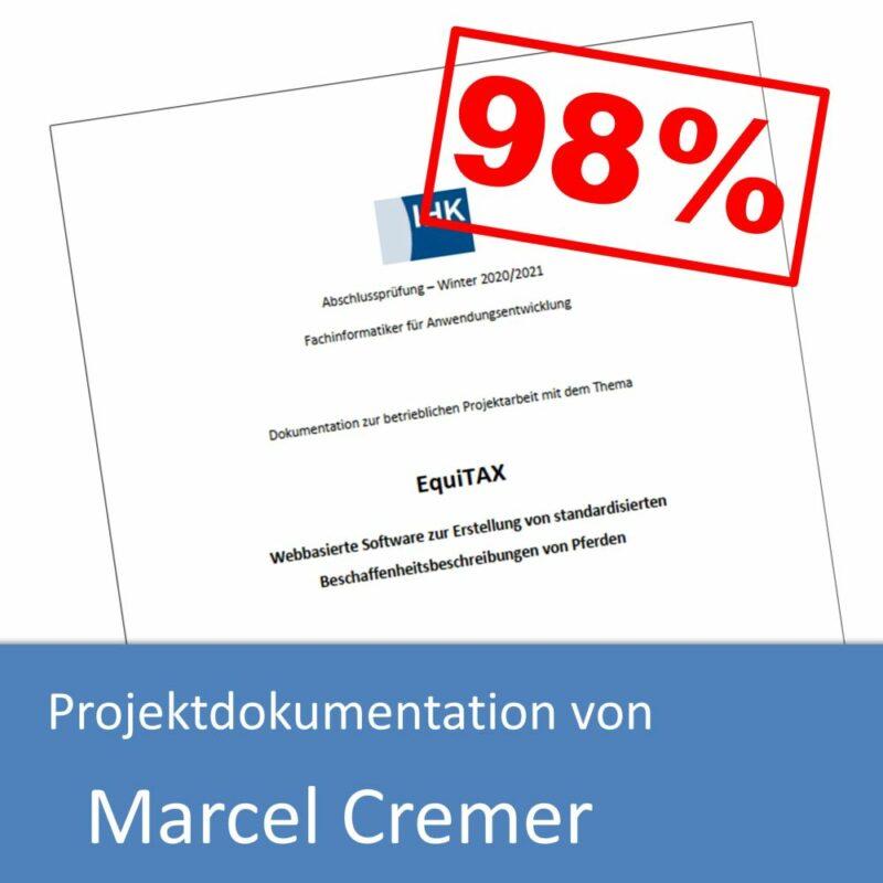 Projektdokumentation von Marcel Cremer (mit 98% bewertet)