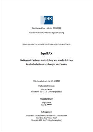 Deckblatt der Projektdokumentation von Marcel Cremer