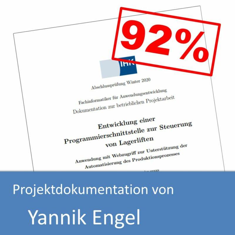Projektdokumentation von Yannik Engel (mit 92% bewertet)