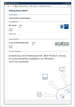 Deckblatt der Projektdokumentation von Björn Jaborek