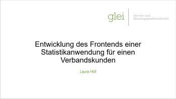 Deckblatt der Projektpräsentation von Laura Höll