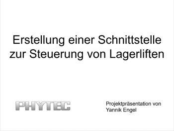 Deckblatt der Projektpräsentation von Yannik Engel