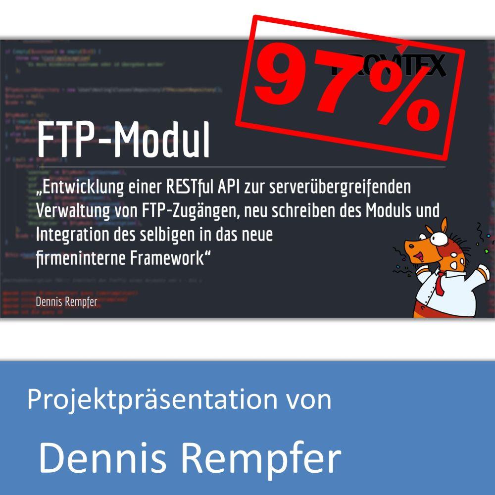 Projektpräsentation von Dennis Rempfer (mit 97% bewertet)