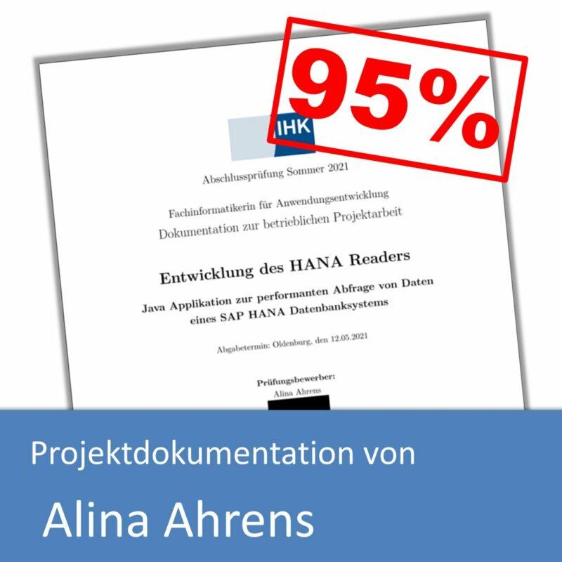 Projektdokumentation von Alina Ahrens (mit 95% bewertet)