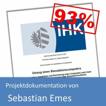 Projektdokumentation von Sebastian Emes (mit 93% bewertet) inkl. Projektantrag