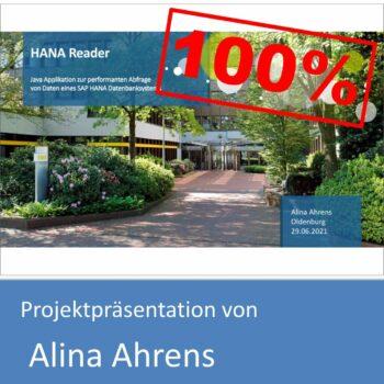 Projektpräsentation von Alina Ahrens (mit 100% bewertet)