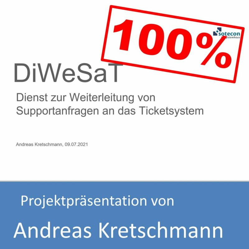 Projektpräsentation von Andreas Kretschmann (mit 100% bewertet)