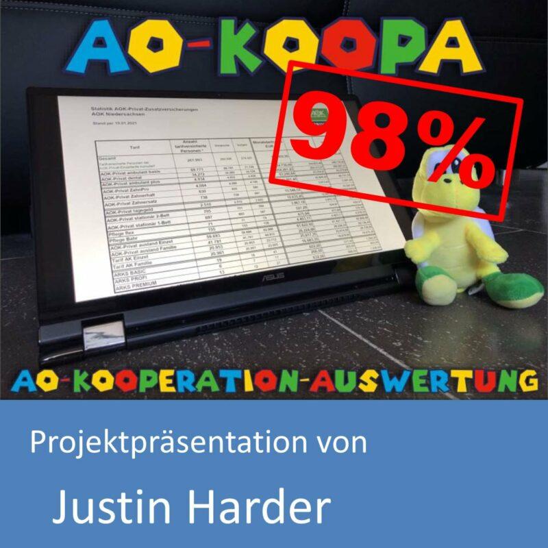 Projektpräsentation von Justin Harder (mit 98% bewertet)