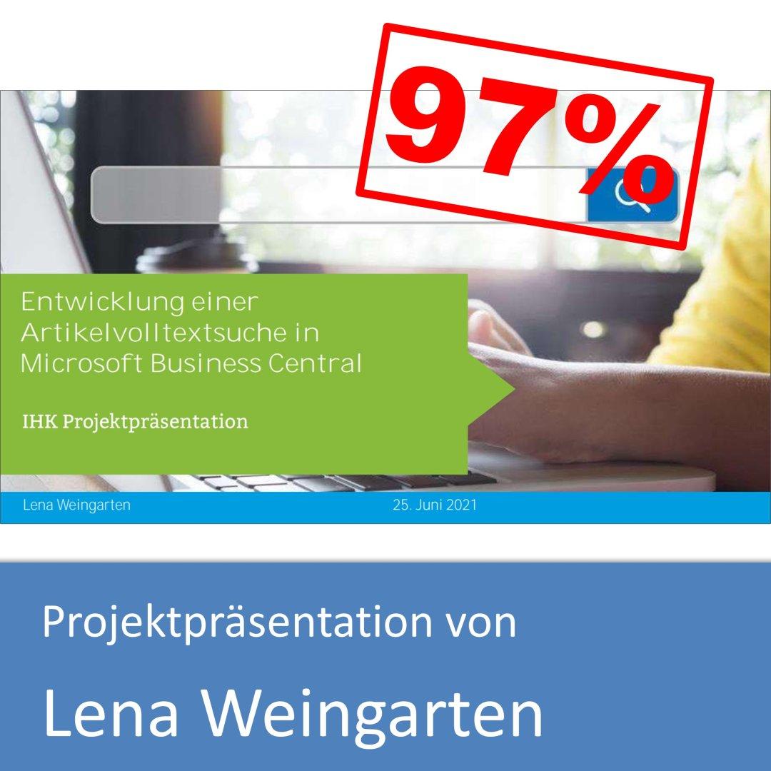 Projektpräsentation von Lena Weingarten (mit 97% bewertet)