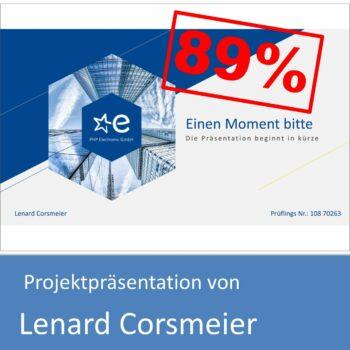 Projektpräsentation von Lenard Corsmeier (mit 89% bewertet)