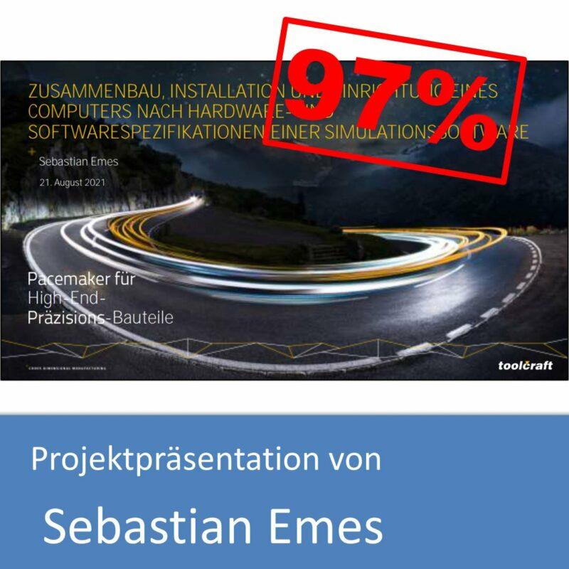 Projektpräsentation von Sebastian Emes (mit 97% bewertet)